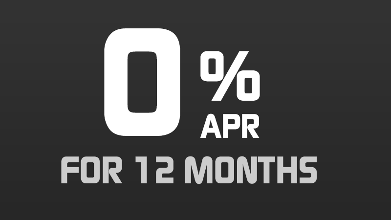 0% for 12 Months [1.22945% APR*]